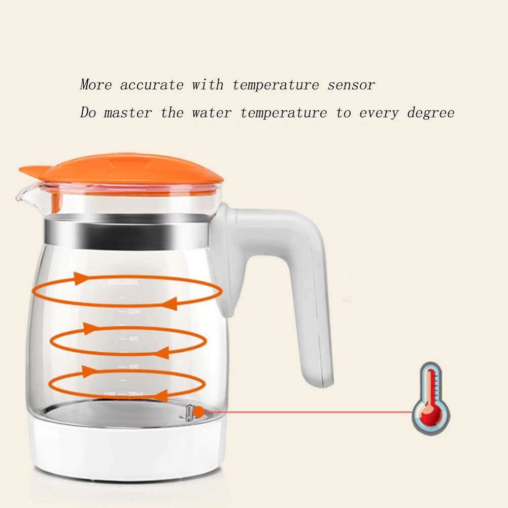 Bebé Termostato Leche Dispensador Inteligente Automático Leche Cervecero Caliente Agua Termostato Hervidor De Vidrio Olla 200Ml,Orange: Amazon.es: Hogar