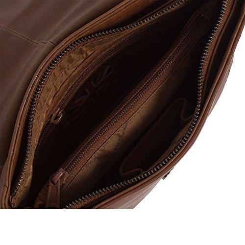 The Chesterfield Brand Julius Borsa a tracolla pelle 20 cm cognac