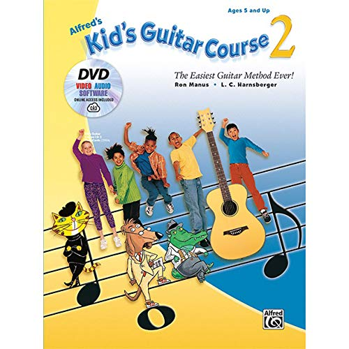 Alfred's Kid's Guitar Course 2 Guitar Book, DVD & Online Audio, Video & Software