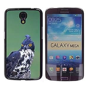 YOYOYO Smartphone Protección Defender Duro Negro Funda Imagen Diseño Carcasa Tapa Case Skin Cover Para Samsung Galaxy Mega 6.3 I9200 SGH-i527 - la caza de aves rapaces negro ornitología blanco