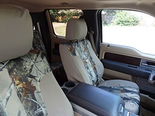 Durafit Seat Covers, FD80--Ford F250-F550 Lariat and King Ranch Front Bucket Seats and Rear 60/40 Split Bench with Integrated Seat Belts. Seat Covers in Tan Endura.