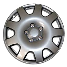 TuningPros WC-16-502-S 16-Inches-Silver Improved Hubcaps Wheel Skin Cover Set of 4