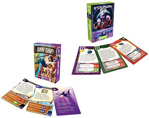 Gamewright Cardventures Bundle with Jump Ship and Stowaway 52 Card Games (2 items)