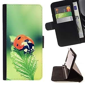 Momo Phone Case / Flip Funda de Cuero Case Cover - La mariquita - Samsung Galaxy A3