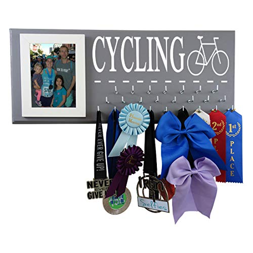 Running On The Wall-Bicycling Gifts-Medal Display Rack-Medal Holder for Biking Athlete-Cycling