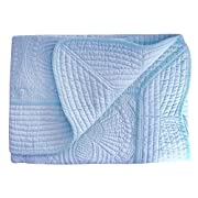 Four Seasons All Weather Cotton Quilt Toddlers and Baby Blanket, Blue