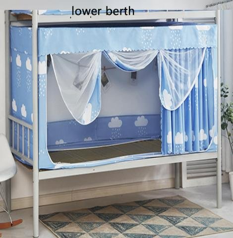 HR,Dormitory Single Bed Mosquito Net Upper Berth/Lower for sale  Delivered anywhere in USA