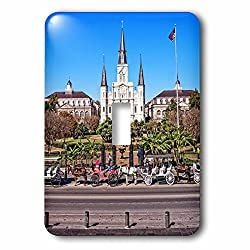 Boehm Photography Travel - Saint Louis Cathedral in New Orleans French Quarter - Light Switch Covers - single toggle switch (lsp_239373_1)