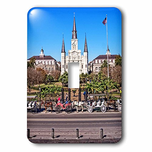 3dRose Boehm Photography Travel - Saint Louis Cathedral in New Orleans French Quarter - Light Switch Covers - single toggle switch (lsp_239373_1) by 3dRose