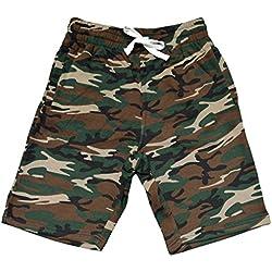 Men's Camo Fleece Jogger Sweatpant Gym Shorts X-Large Black