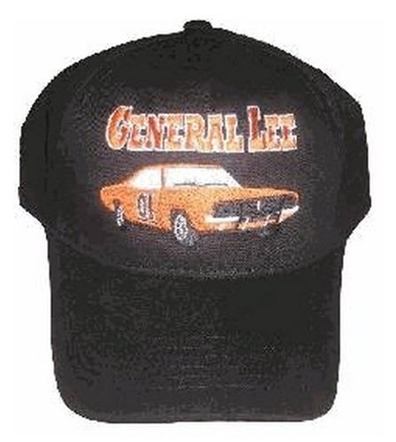 (The Dukes of Hazzard General Lee Black Baseball Cap Hat (Adult, Adjustable))
