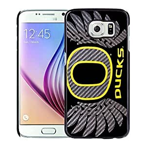 Unique and Nice Galaxy S6 Case Design with Oregon Ducks Black For CaseSamsung Galaxy S6
