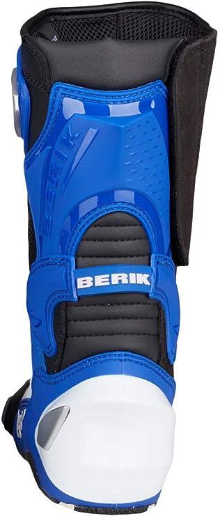 Berik race x racing stivali da moto nero bianco blu 37 fc