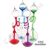 Colorful Office Thinking Hand Boiler, Glass Science Energy Transfer, Children Science Experiment, Love Birds Color Meter Hand Boiler, 2 Pcs (Gree&Blue) By C&H