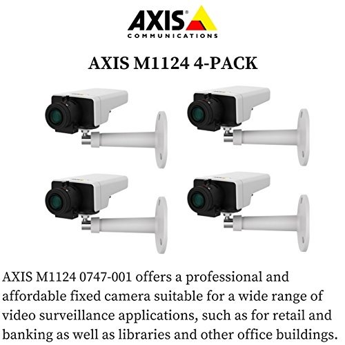 Axis M1124 4-PACK - 0747-001 Network Camera for Day/Night with HDTV 720p