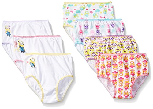 Despicable Me Girls Minion Toddler 7pk Panty, Assorted, 2T/3T