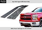 2014 billet grill chevy silverado - APS For 2014-2015 Chevy Silverado 1500 Regular Model Stainless Black Billet Grille #N19-J05956C