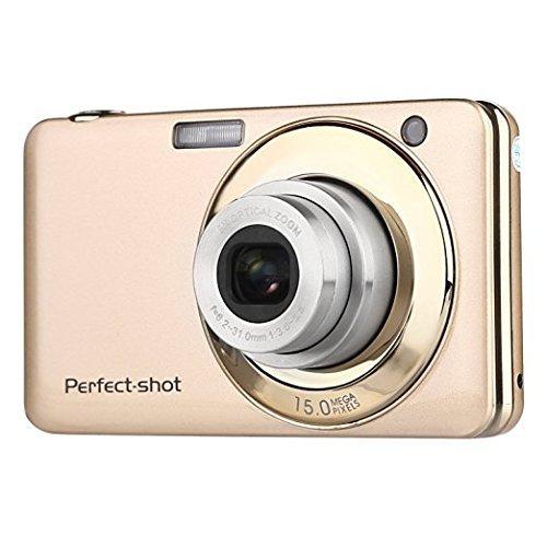 Appareil photo numérique Stoga V600 G052 2,7 pouces TFT 5 X Zoom optique 15MP 1280 X 720 HD anti-shake Smile Capture caméra vidéo numérique - Or
