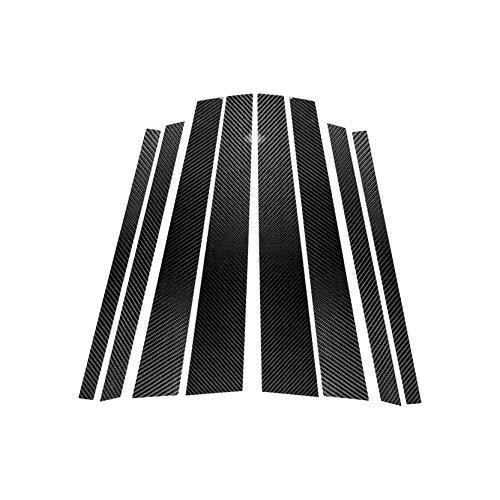 Carbon Fiber Door Window B+C Pillar Post Panel Frame Decal Cover Trim for BMW X5 X6 E70 E71 2008-2013 E7001 ()