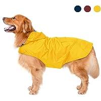 Zellar Impermeable para Perros con Capucha y Collar Agujero y Tiras reflectoras seguras, Ultra-Light Transpirable…