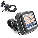 """ChargerCity Water Resistant XL GPS Bike Motorcycle Handle Bar Mount (up to 1.5"""" Handle Bar) for 5"""" Garmin Nuvi 1450 1490 2450 2460 2557 2577 2597 3597 50 52 54 LM LMT TOMTOM GO 2505 2535 1535 LIVE Start 55 50 45 XXL 530 535 540 550 TM GPS Navigators"""