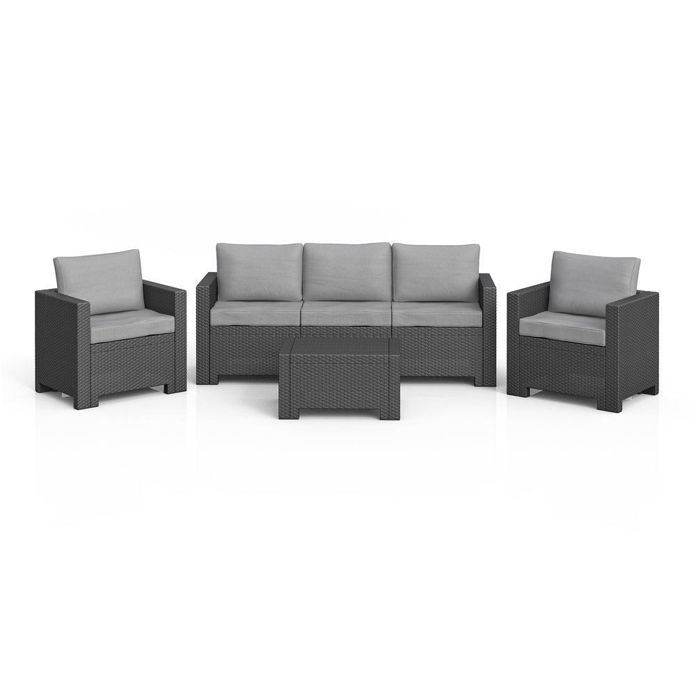 bica colorado poly rattan gartenm bel lounge set xxl rattanoptik sitzgruppe garnitur anthrazit. Black Bedroom Furniture Sets. Home Design Ideas