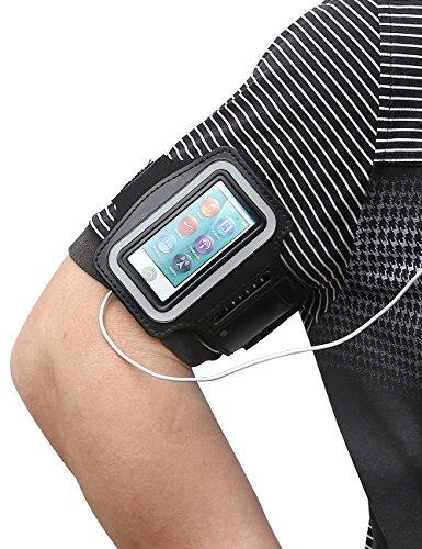 Stylish Sport Neoprene Armband for Ipod Nano 7 - Black - 2