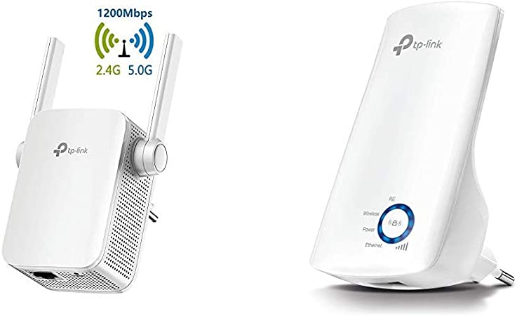 TP-Link Repetidor WiFi AC1200Mbps Extensor de Red WiFi Amplificador Enrutador Inalámbrico RE305 + TL-WA850RE - Repetidor de Red WiFi Extensor ...