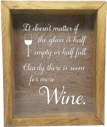 Wooden Shadow Box Wine Cork/Bottle Cap Holder 9x11 - It D...
