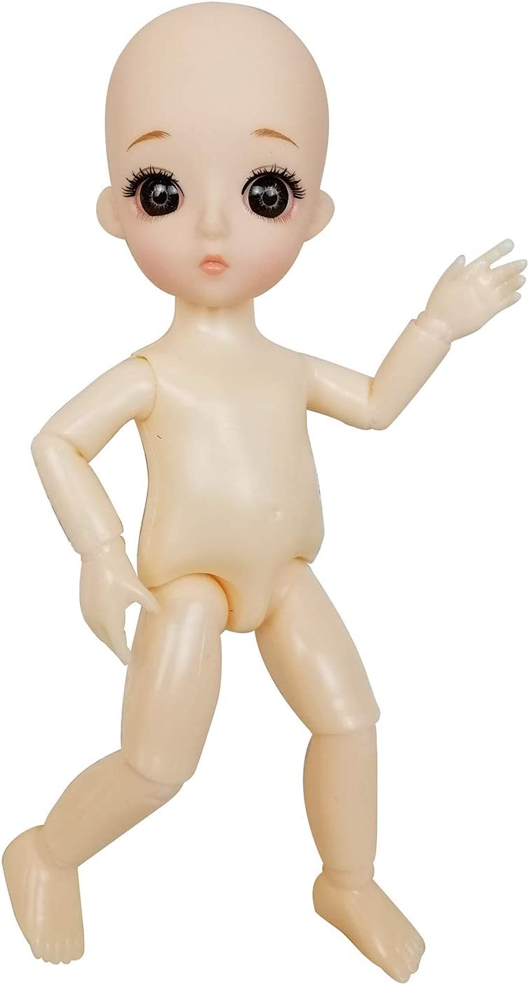 EVA BJD 1//8 4.8 Mini Customized Dolls 13 jointed Doll ABS Body For Boys and Girl Toy Gift 1 Nacked