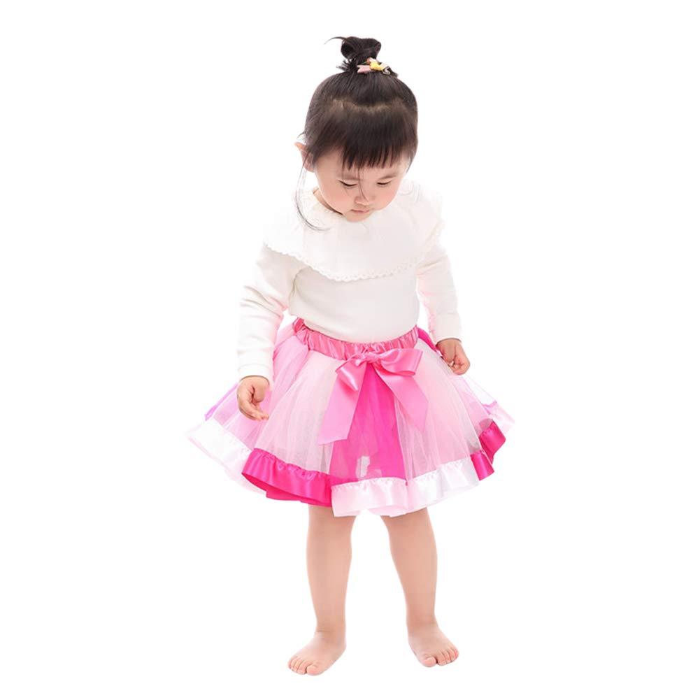 Xingsiyue Girls Tutu Skirt Layered Tulle Rainbow Pettiskirts Ballet Dance Dress