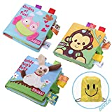 Soft Baby Cloth Activity Crinkle Book Set Fabric Non-Toxic Early Education Toys Shower