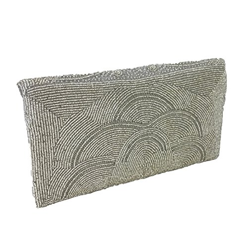 Bag Silver From Beaded St Xavier Barbara Evening Clutch nFqRB8w