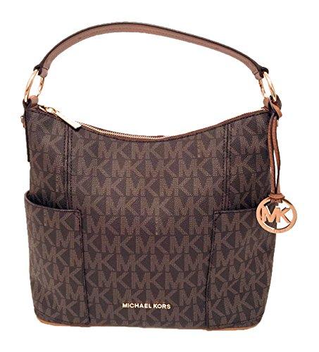- Michael Kors Anita Signature Large Convertible Women's Handbag in Brown/Acorn
