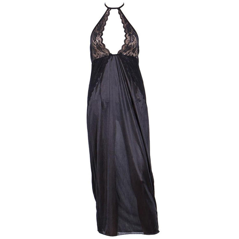 erthome Frauen Sexy Unterwäsche Nachthemd Schwarz Langen Rock Uniformen Versuchung