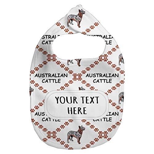 Fleece Bib Custom Australian Cattle Dog Paws Pattern Unisex Children, One - Dog Fleece Australian Cattle