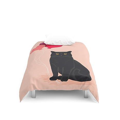 Society6 gato negro amor globos San Valentín regalos para gato de gato personas diseño de gatos