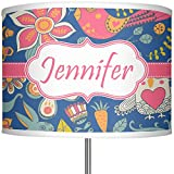 RNK Shops Owl & Hedgehog 13'' Drum Lamp Shade Polyester (Personalized)