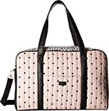 Luv Betsey Women's Cruize PVC Weekender with A Luggage Pass Through On The Back & Removable Wristlet White/Leopard One Size