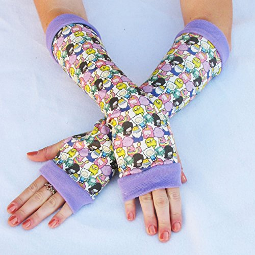 Adventure Time anime arm warmers gloves (Marceline Adventure Time Costume)