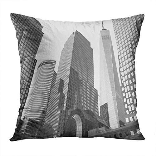 Suklly Throw Pillow Cover Square 16x16 Inch New York City USA July 05 Cushion Home Sofa Decor Hidden Zipper Polyester Pillowcase]()