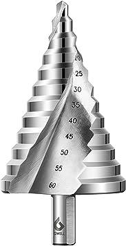 6-60MM STUFENBOHRER Schälbohrer Kegelbohrer Fräser Titanbeschichtet Werkzeuge