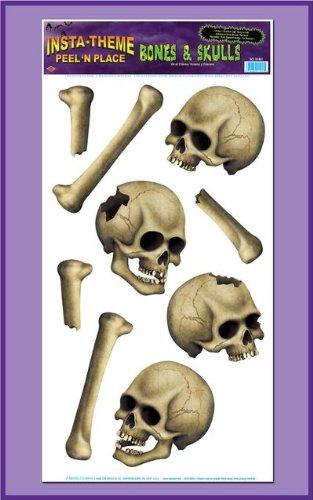 : Skulls & Bones Peel 'N Place Party Accessory (1 count) (9/Sh)