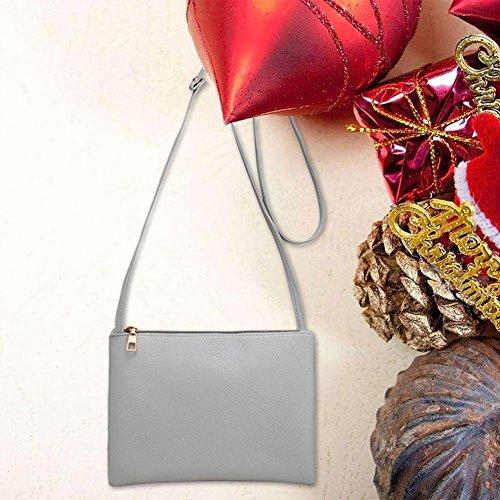 Women Shoulder Bag Small Bags Classic PU Messenger Body Grey Cross Domybest 5ZnqzH8