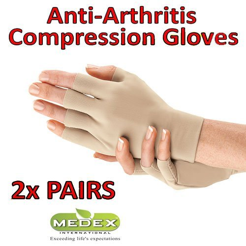 Orthopedic Arthritis Compression Gloves All Day Relief (2 Beige) by Medex Lab Inc (Image #4)