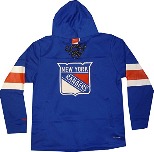(Reebok New York Rangers Hooded Sweatshirt (Large) Blue)