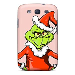 Samsung Galaxy S3 FKo19606gdbs Support Personal Customs Beautiful The Grinch Christmas Illustration Skin High Quality Hard Phone Cover -MansourMurray