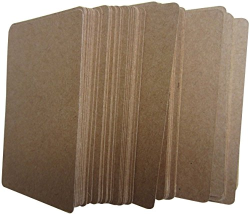 Kraft Paper Greeting Cards-LeBeila Rectangular Kraft Paper Tags Double Sided Blank Bonbonniere Favor Kraft Gift Tags For Wedding, Craft & Price Label (100 PCS, Brown)