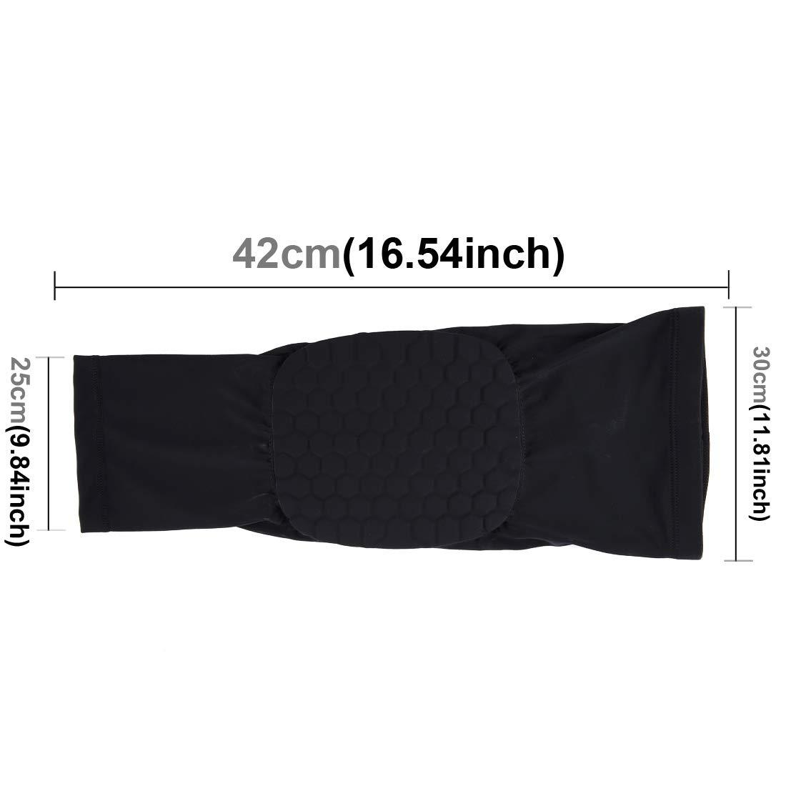 Anstorematealliance Sports&Entertainment Sports&Entertainment Factory 1 PC Beehive Shaped Sports Collision-Resistant Lycra Elastic Knee Support Guard, Long Version, Size: M(Black) (Color : Black)