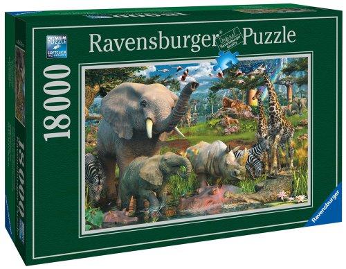 Ravensburger At The Waterhole - 18000 Pieces (Savannah Cardboard Jigsaw)